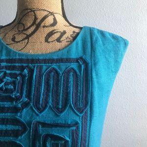 BCBG Maxazria Blue Sheath Dress